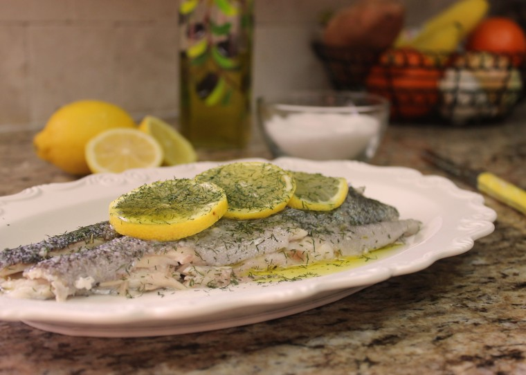 favorite things to make (and eat) is baked whole fish, lightly salted ...