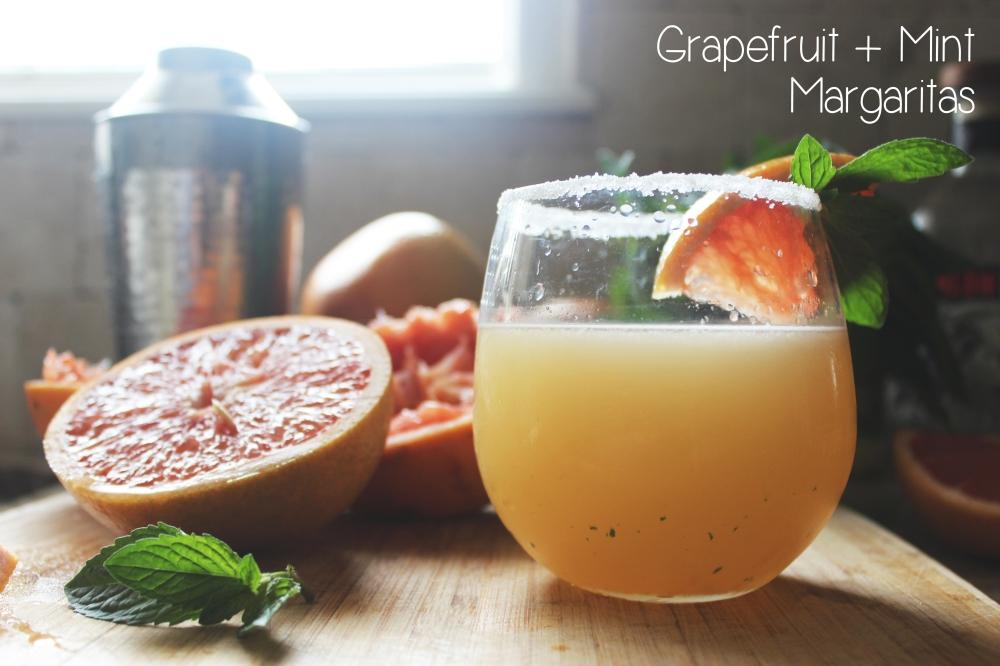 Grapefruit Mint Margaritas Title