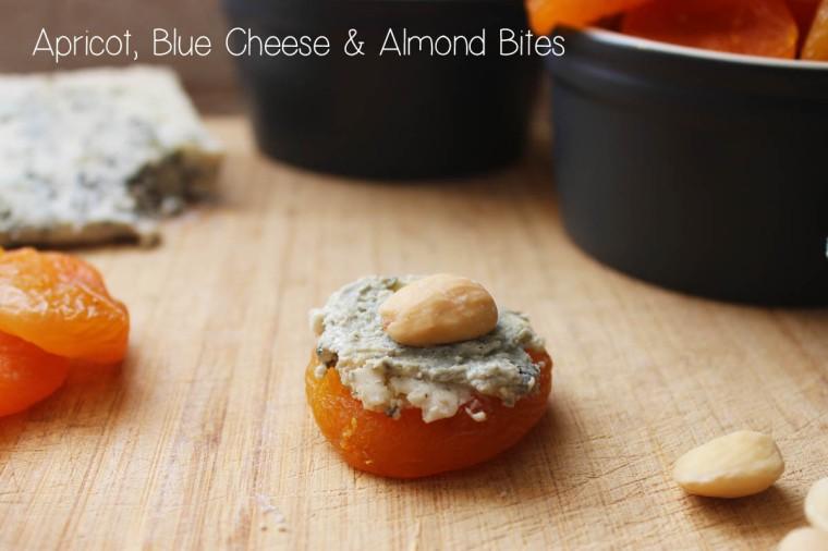 Apricot, Blue Cheese & Almond Bites | Sophaki cooks