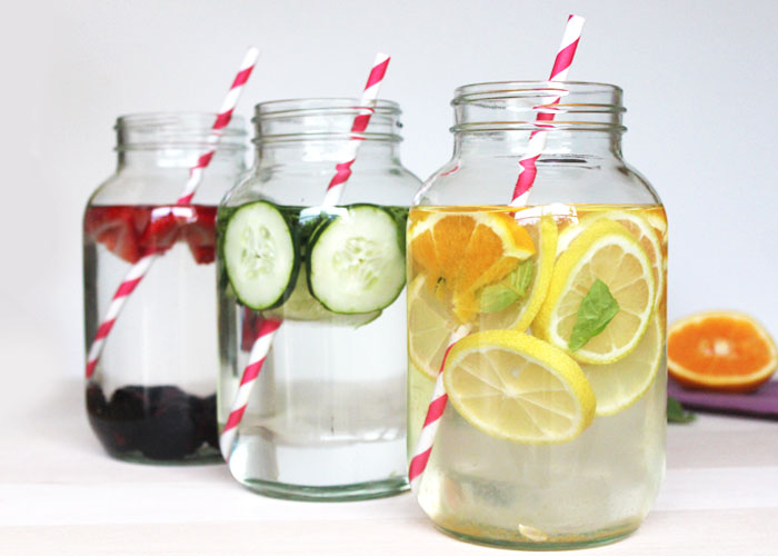 Herb-Infused Water Jars