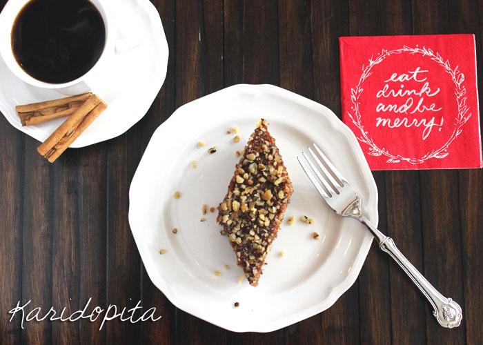 Karidopita-Greek Walnut Cake