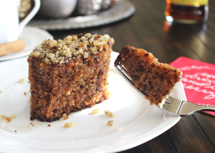 Karidopita-Greek Walnut Spice Cake