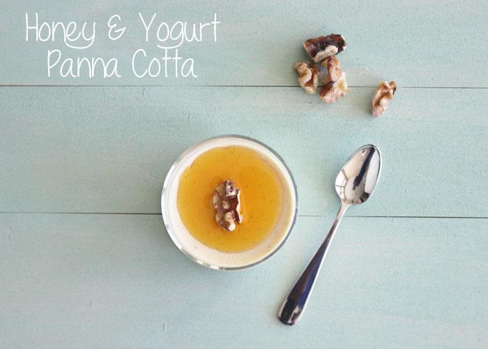 Honey & Yogurt Panna Cotta 1 + Title