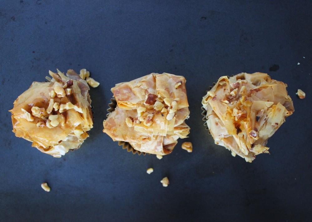 Baklava Cheesecake Cupcakes 3