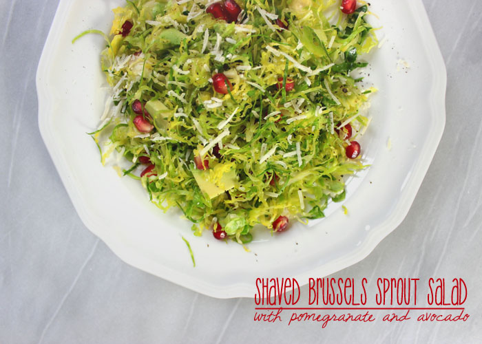Shaved Brussel Sprout Salad 1